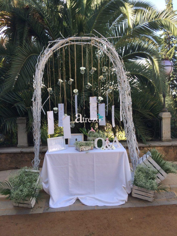 Decoración recepción boda
