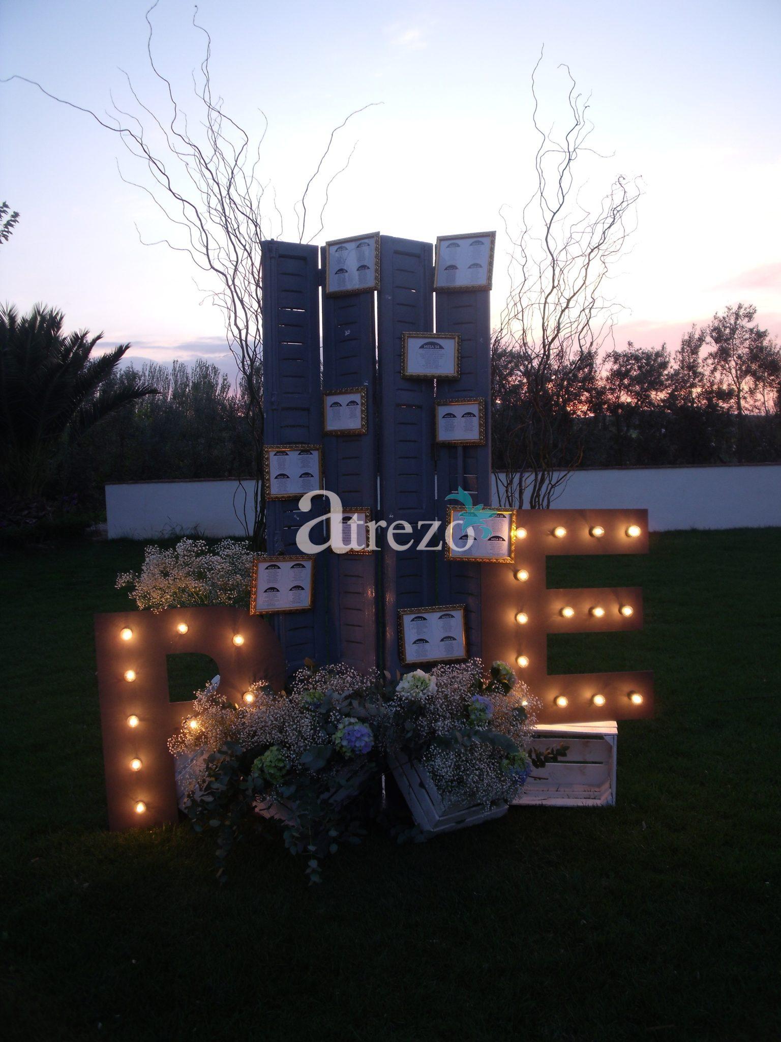 Decoración recepción boda loche