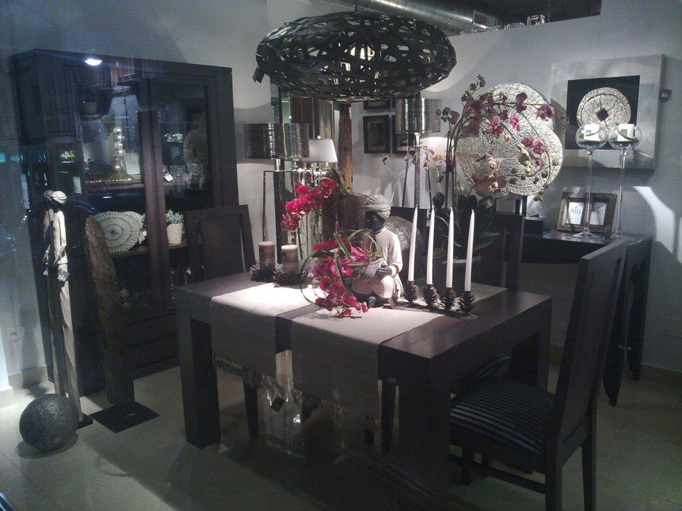 buda con flores centro mesa