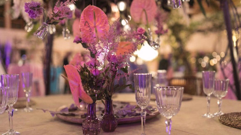 Cabana Flores Color Morado 1