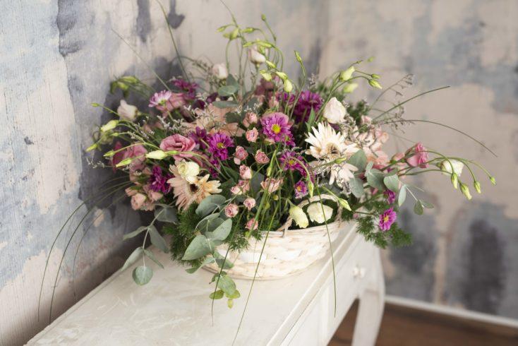 Cesta Grande Flor Especial En Rosas