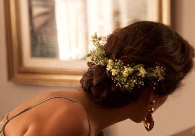 Diadema de flores boda