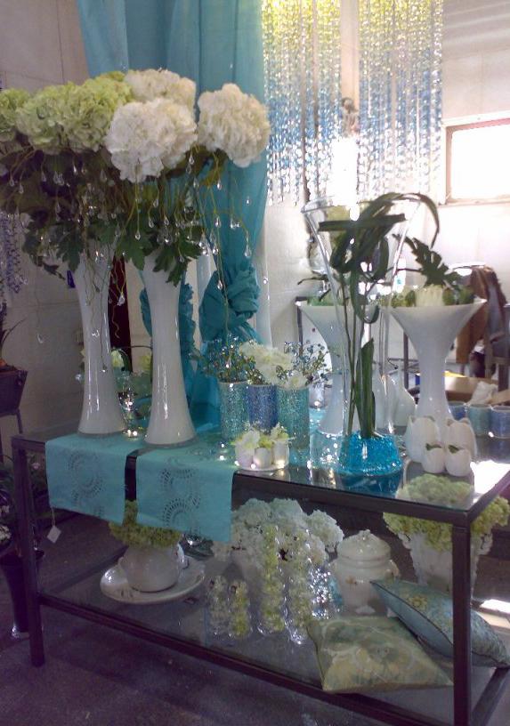 Flores Artificiales Azul 5