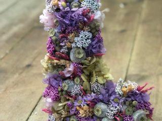 Letras flor seca y preservada