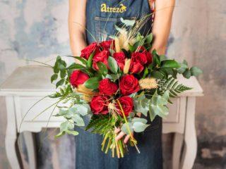 Precioso Ramo De Rosas Rojas Para Regalar