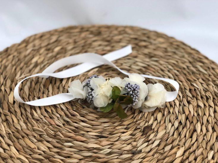 Pulseras de flor preservada pequeñas