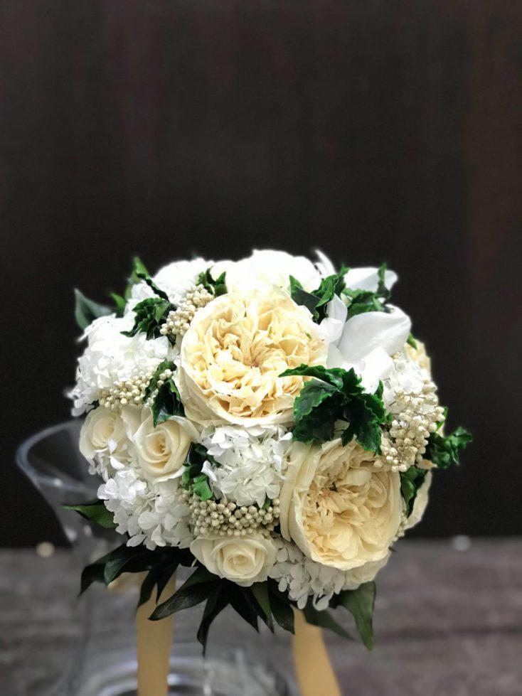 Ramos de novia rosa blanca