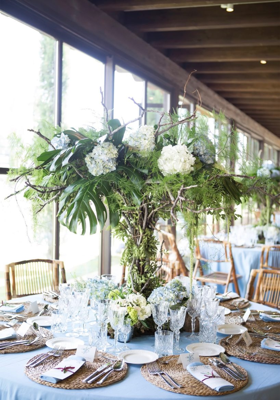 centro-de-mesa-redonda para boda flores cortijo