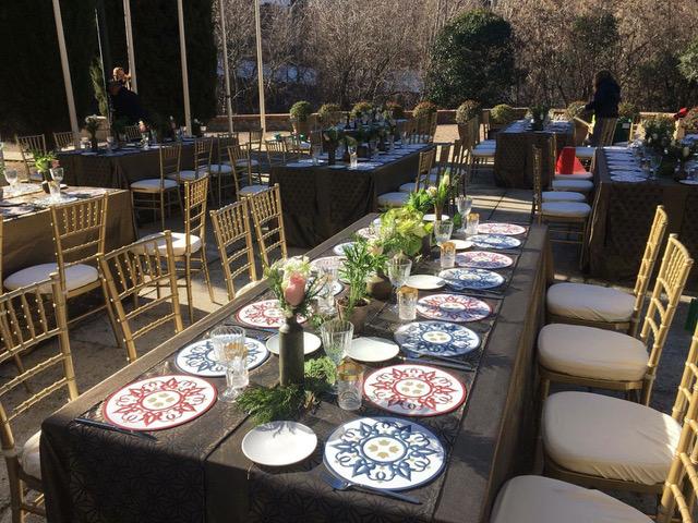Decoracion Floral Para Master Chef En Granada Mesas