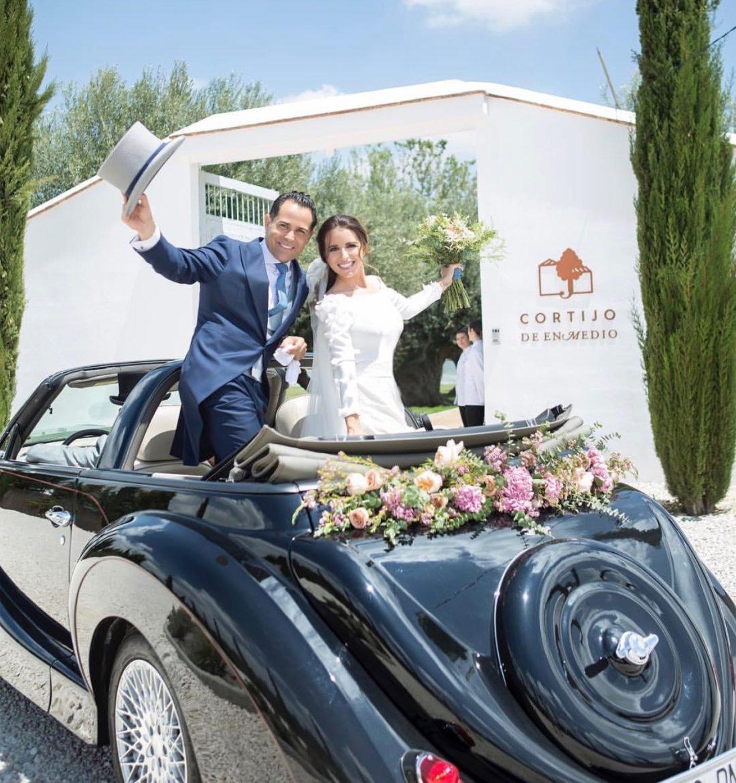 boda flores cortijo coche