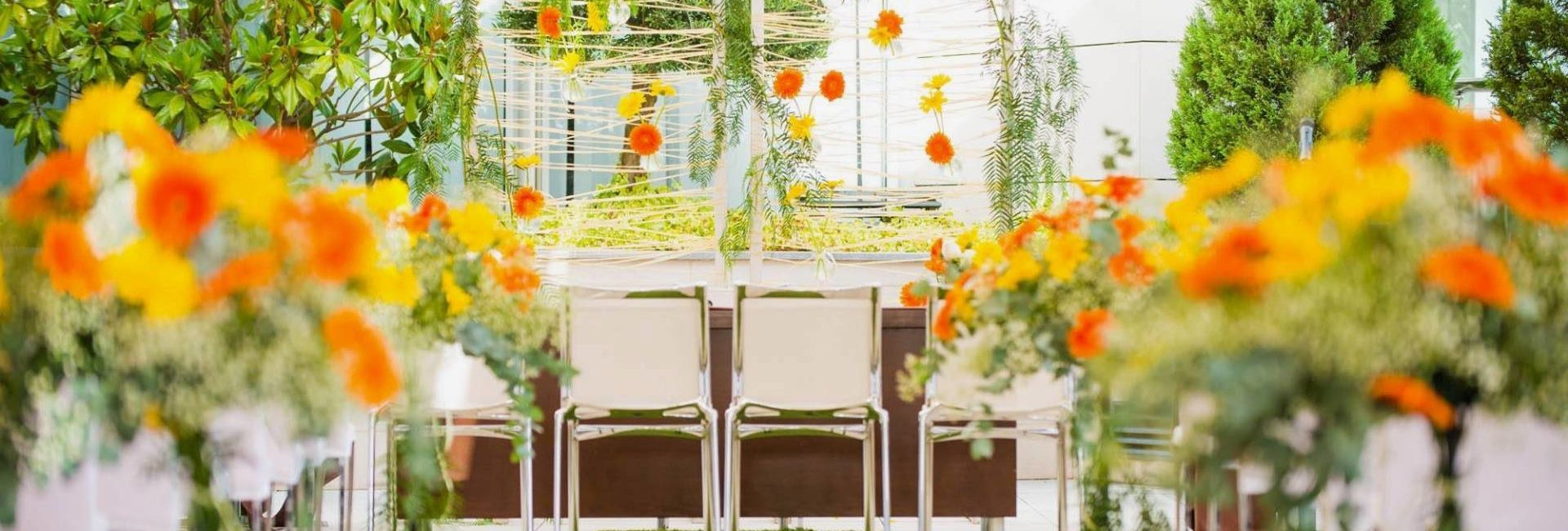 Evento Colorido Flores Amarillas Y Naranjas