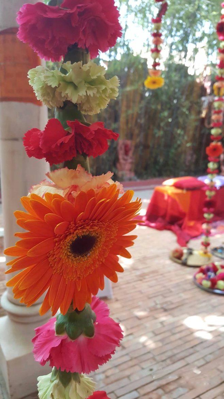 Flores estilo hindú clores