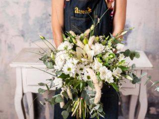 Ramo Flores Variado Mediano Tonos Blancos