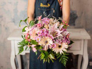 Ramo Flores Variado Mediano Tonos Rosas