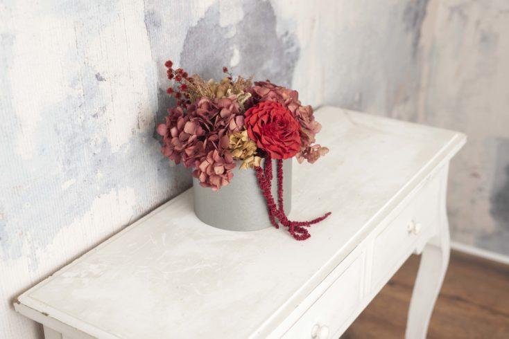 Caja De Flores Preservadas Rosmelia Mediana