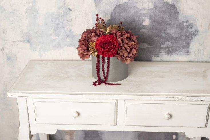 Caja Flores Preservadas Rosmelia Mediana