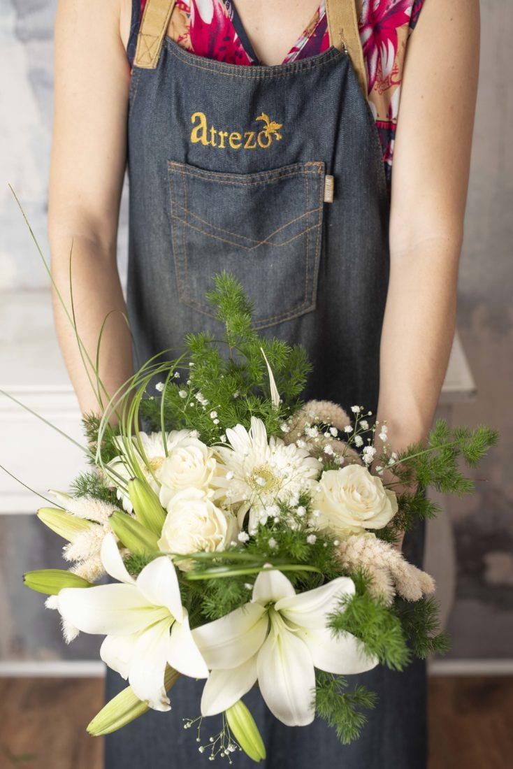 Diseno Floral Base Cristal Blanco