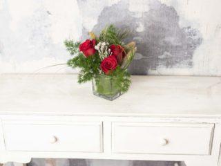 Diseno Floral Con 3 Rosas Rojas