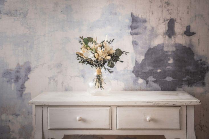 Ramo Flores Preservado Seco Pequeno Blanco