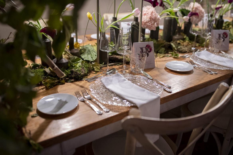 Decoración mesa para fiesta de novios